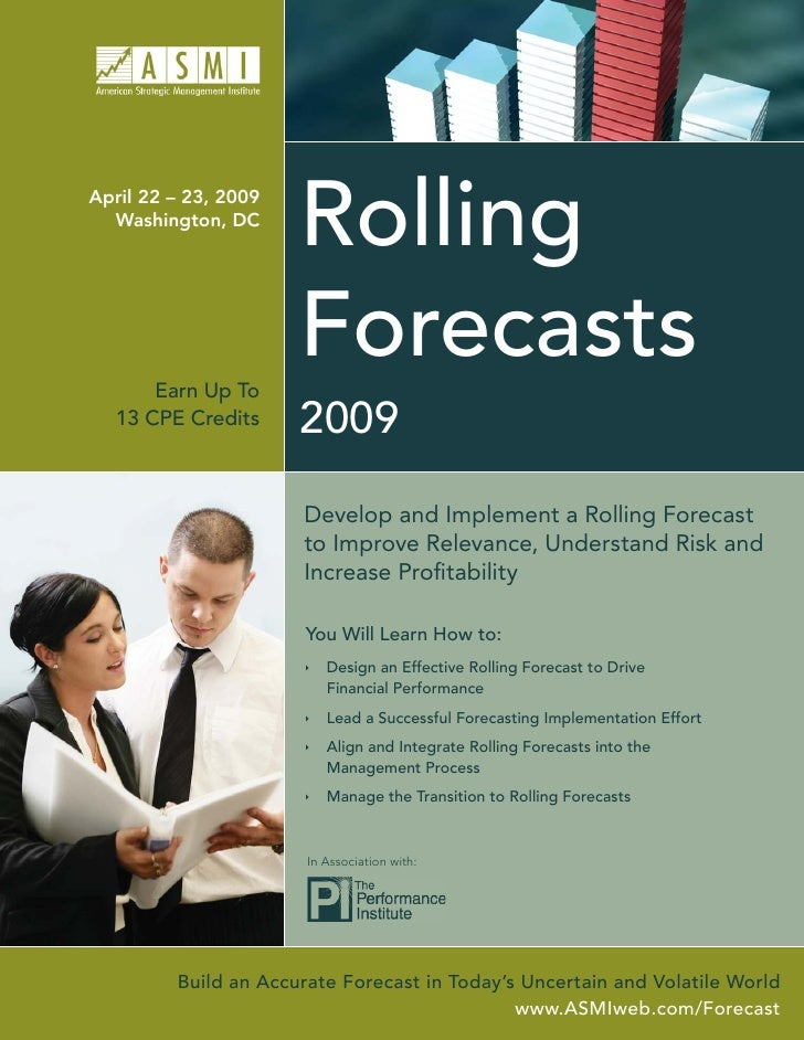 Rolling April 22 – 23, 2009   Washington, DC                           Forecasts       Earn Up To                       20...