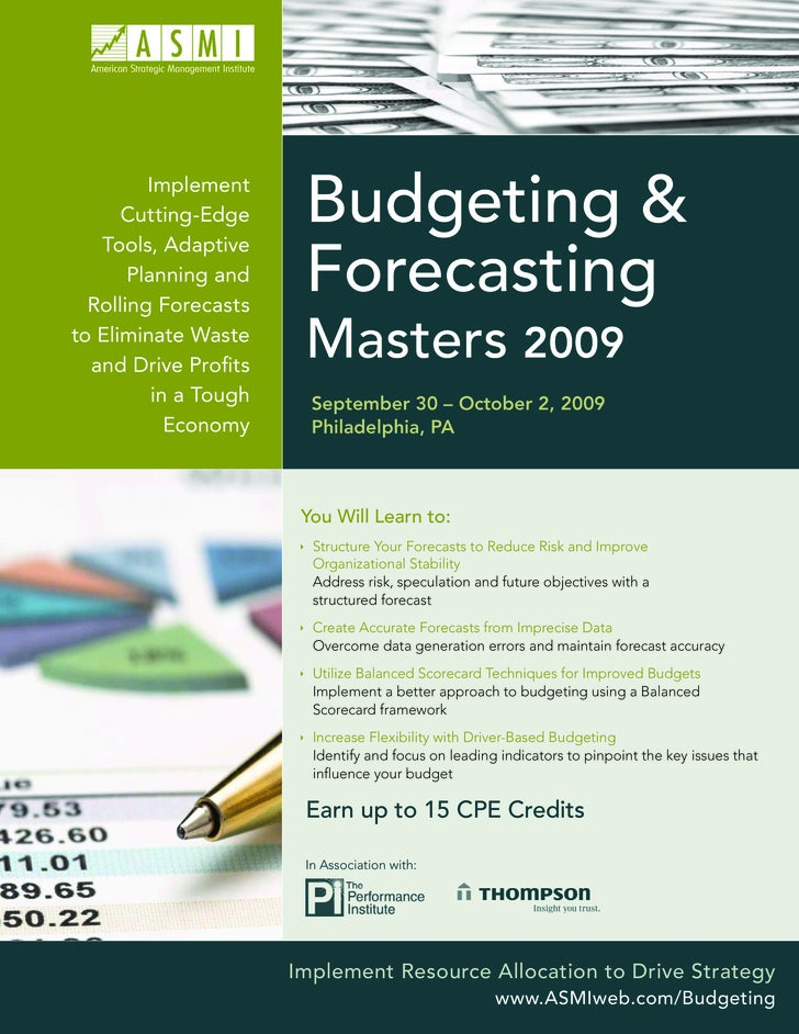 Implement       Cutting-Edge    Tools, Adaptive                         Budgeting &        Planning and   Rolling Forecast...