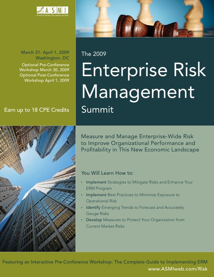 March 31- April 1, 2009   The 2009               Washington, DC                                     Enterprise Risk       ...