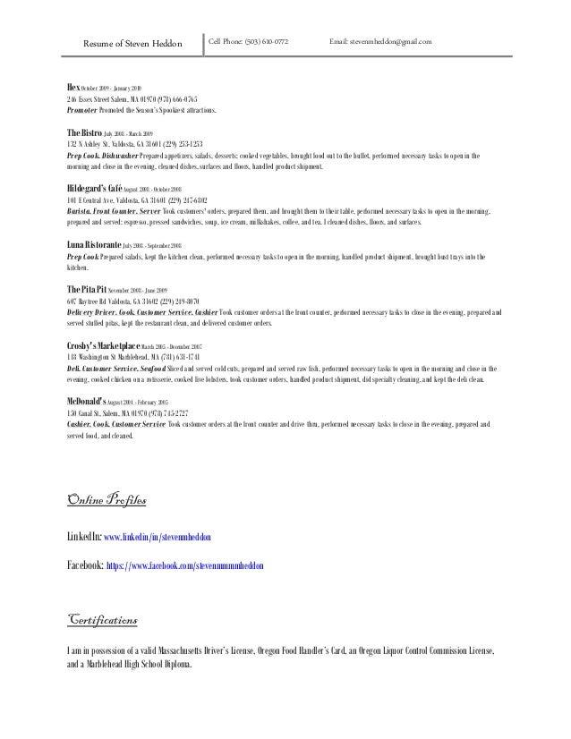 resume. Resume. florida food handlers card