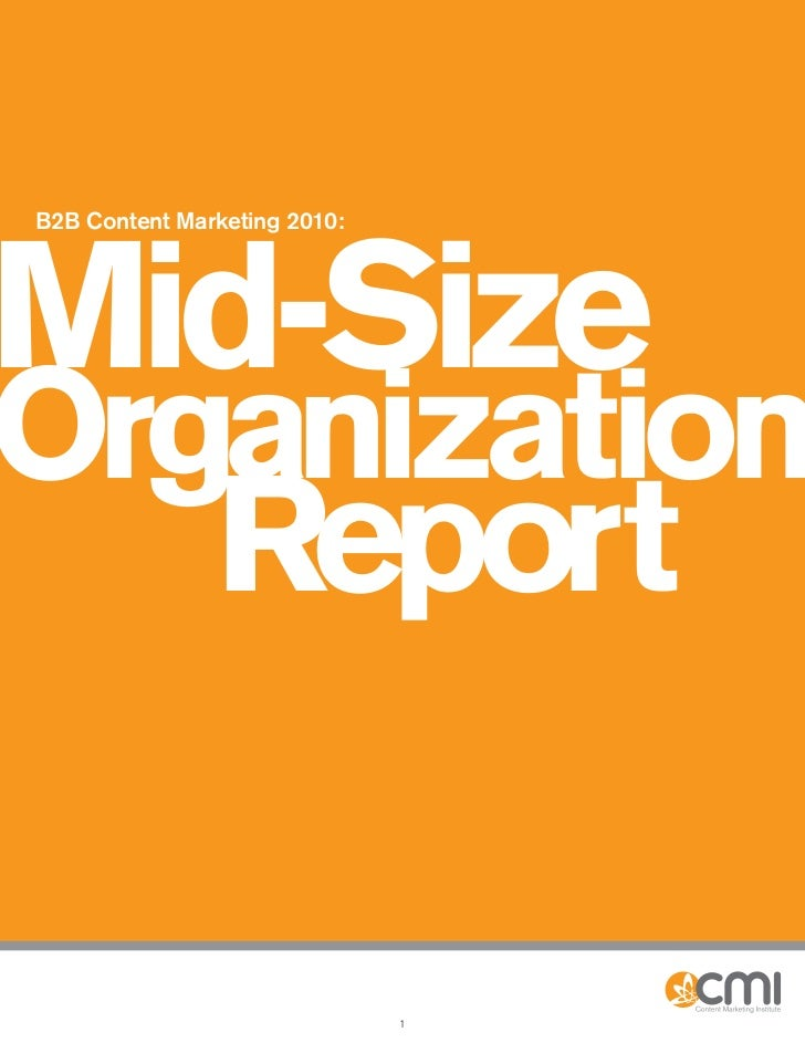 B2B Content Marketing for mid-sized companies report