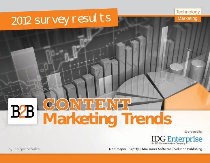 2 0 1 2 s u r v e y re s u l t s                    Marketing Trends                                                      ...