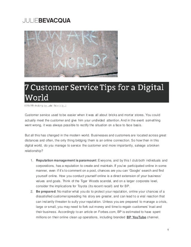 Customer Service Tips of The Day 7 Customer Service Tips