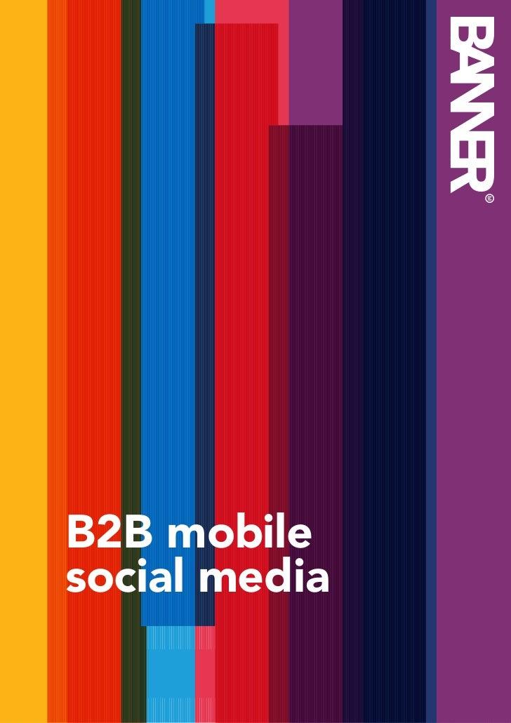 B2B mobilesocial media                              1               B2B mobile               social media