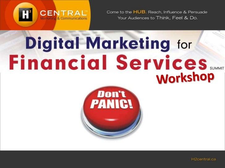 Digital Marketing for Financial Services Workshop