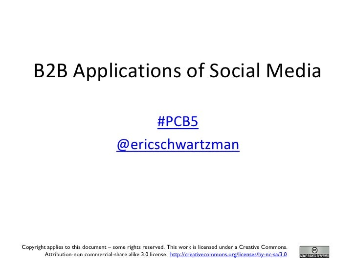B2B Applications of Social Media