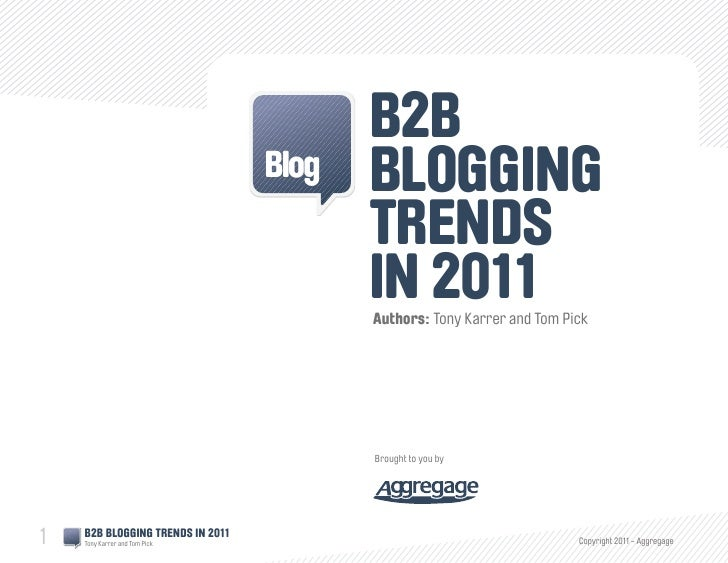 B2B Blog: Trends In 2011