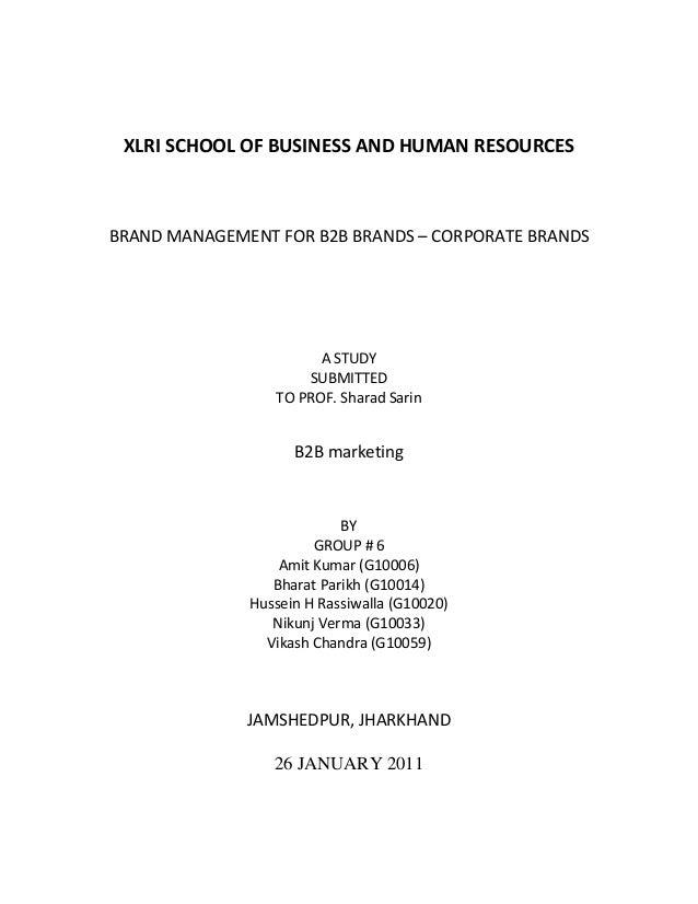 B2B branding project