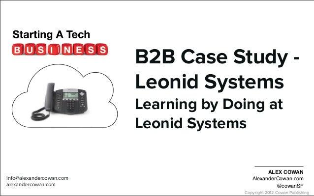 B2B Case Study - Ideation