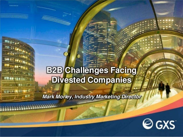 Mark Morley, Industry Marketing DirectorB2B Challenges FacingDivested Companies
