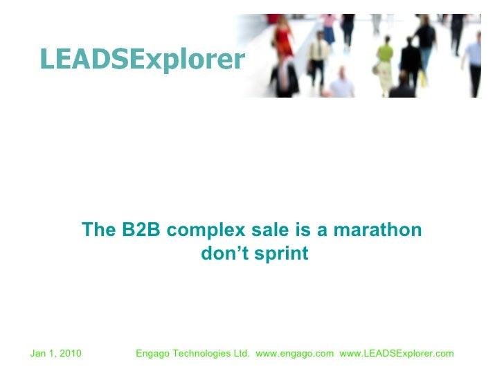 B2B Complex Sale Is A Marathon Not A Sprint