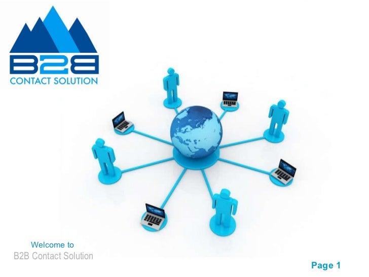 B2B Contact Solution--presentation