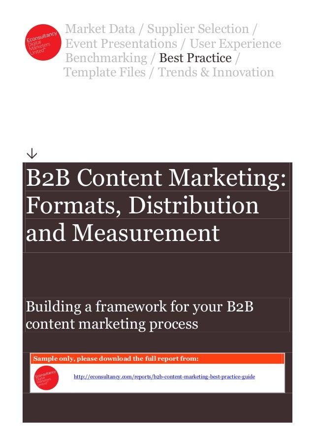 B2 b content marketing best practice econsultancy
