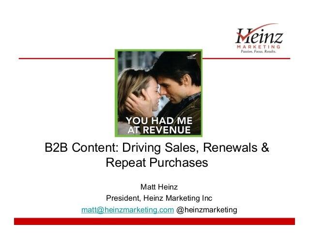 B2B Content Strategy - Matt Heinz