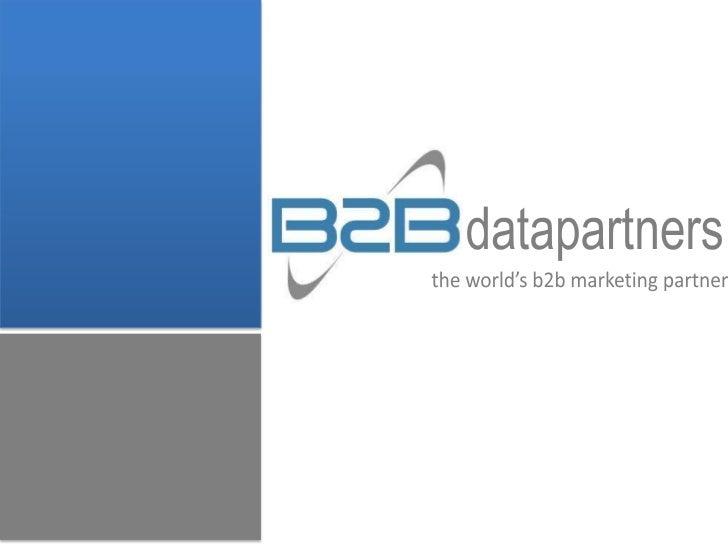 B2Bdatapartners Capabilities