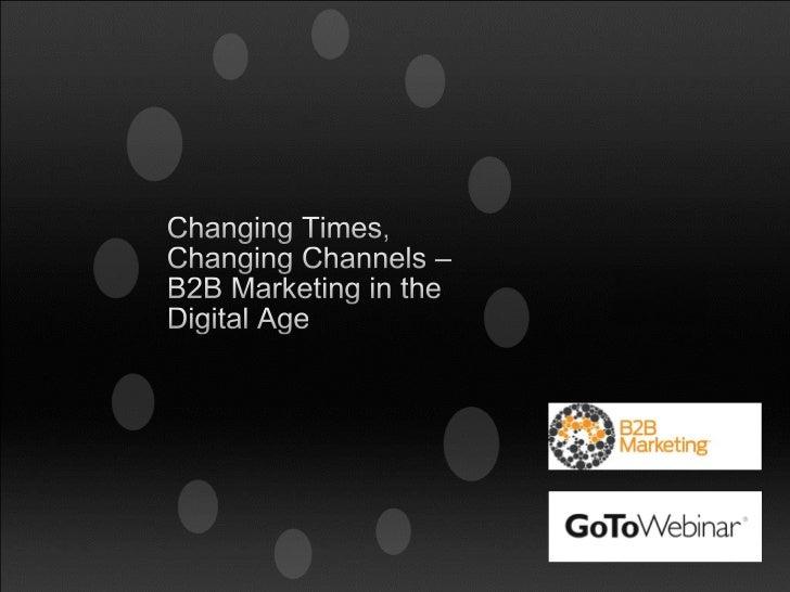 Joel Harrison            John Bottom    Editor       Head of Content & Communications B2B Marketing            Base One Gr...