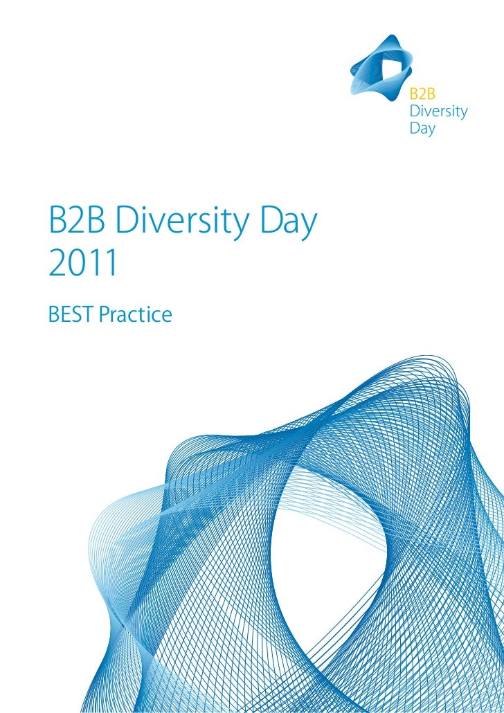 B2B diversity day booklet
