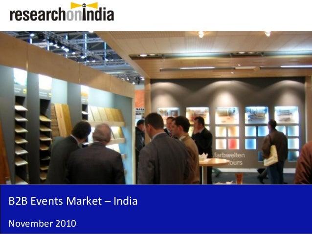 B2B Events Market – India November 2010