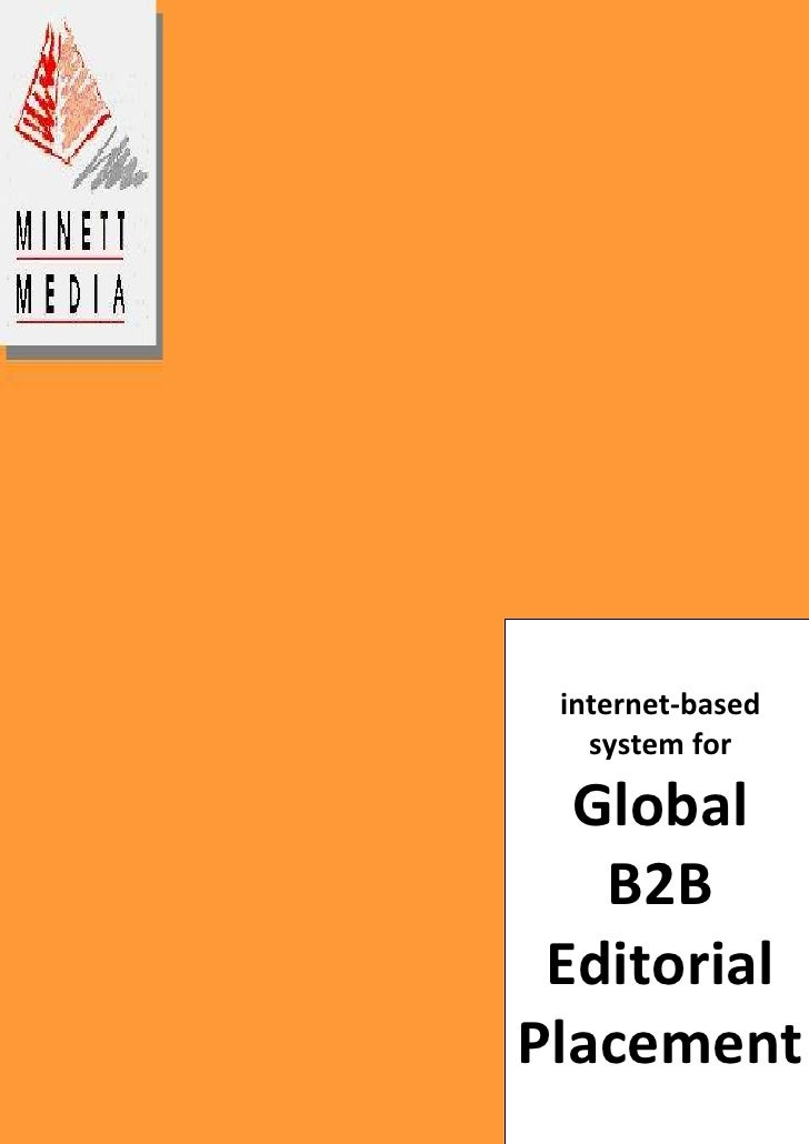 internet-based system for Global B2B Editorial Placement-914400-933450<br />The B2B Exchange for the World's Trade Press<b...