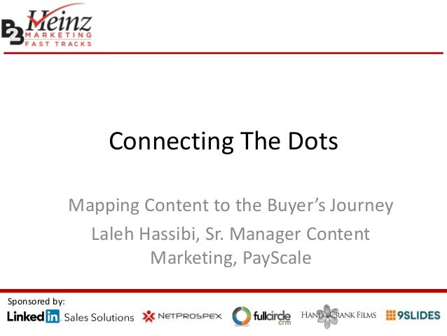 Connecting The Dots Mapping Content to the Buyer's Journey Laleh Hassibi, Sr. Manager Content Marketing, PayScale Sponsore...