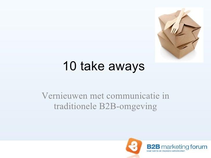 Vernieuwen met communicatie in traditionele B2B omgeving