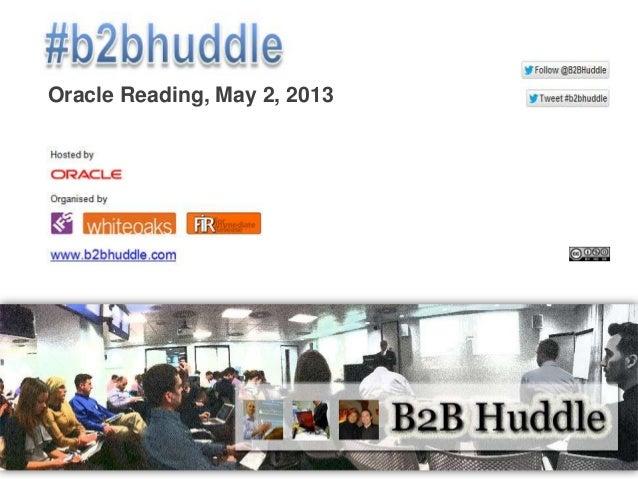 The B2B Huddle 2013