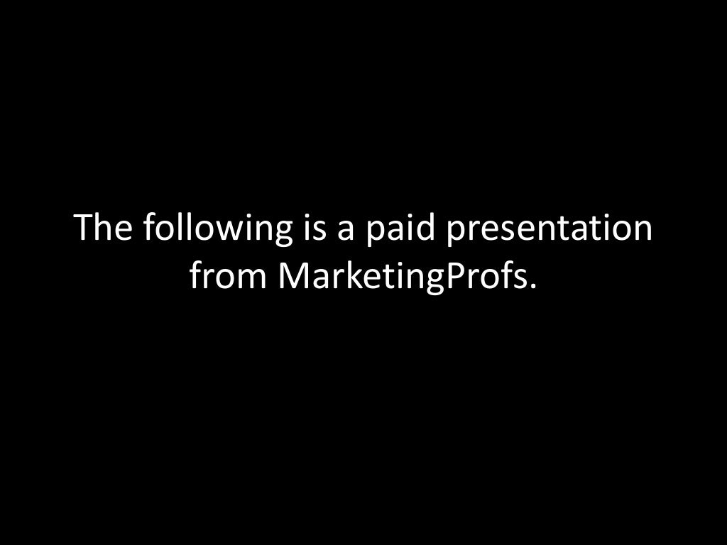 MarketingProfs B2B Forum Infomercial