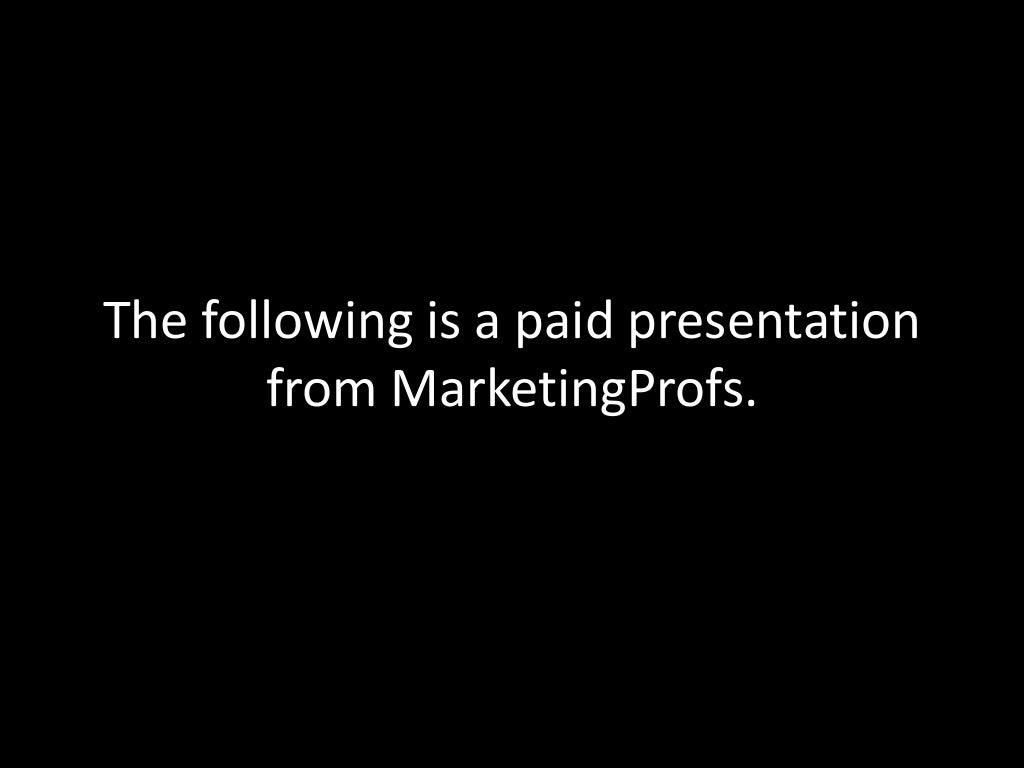 MarketingProfs B2B Forum Infomercial