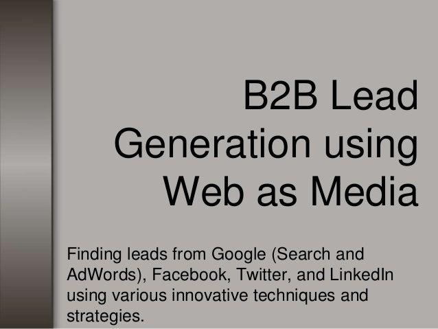 Google adwords for b2b marketing