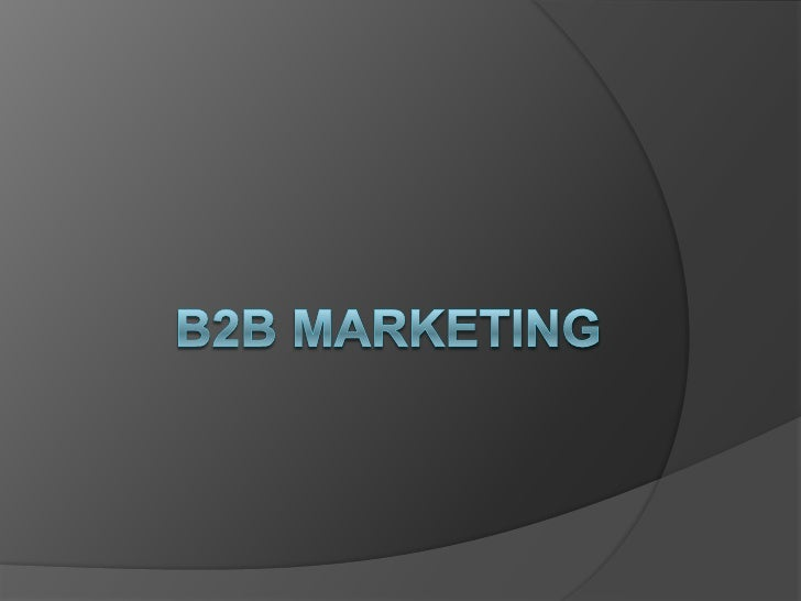 B2B Marketing<br />