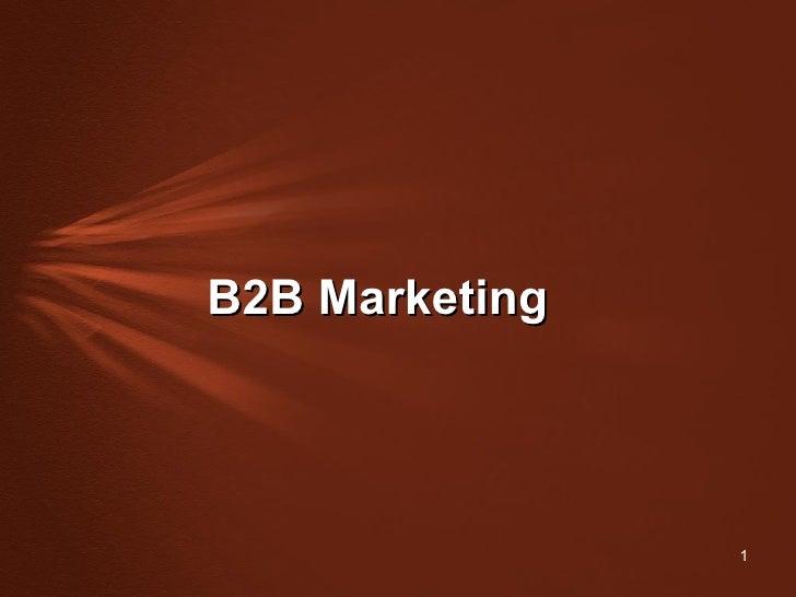 B2 B Marketing