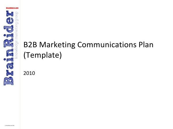 B2B Marketing Communications Plan (template) v2