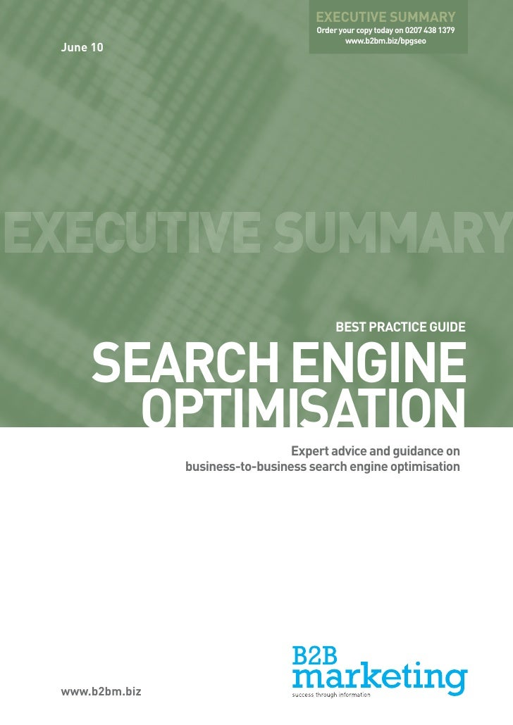 Best Practice Guide: Search Engine Optimisation