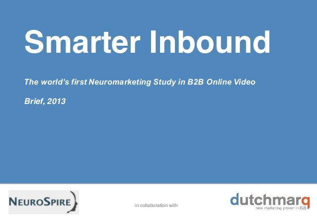 B2B neuromarketing study online video l summary April 2013