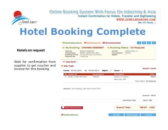 How to use our online booking system on b2b page www for Booking hotel