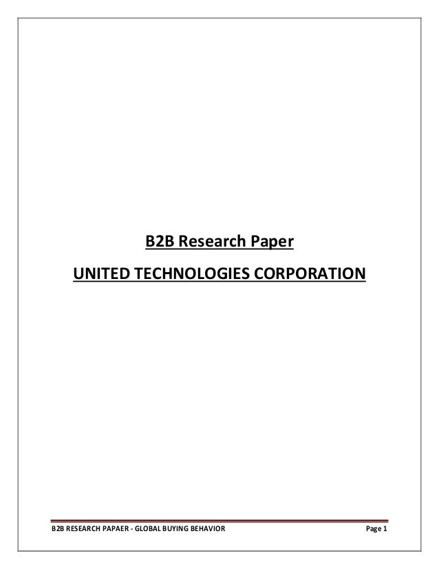 corporation research paper