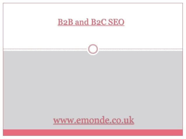 B2B and B2C SEOwww.emonde.co.uk
