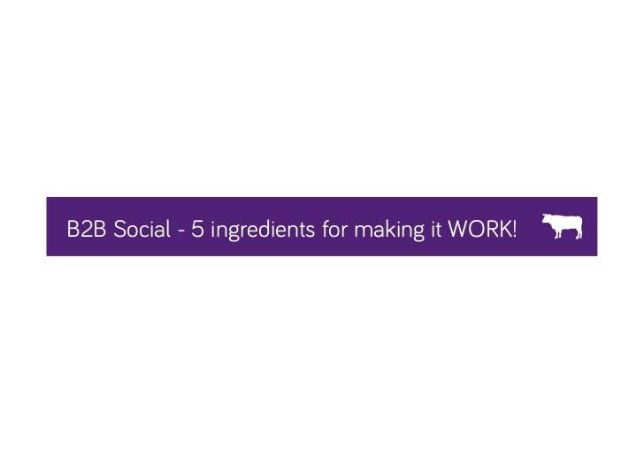 B2B Social Media Marketing - 5 Steps to Success!