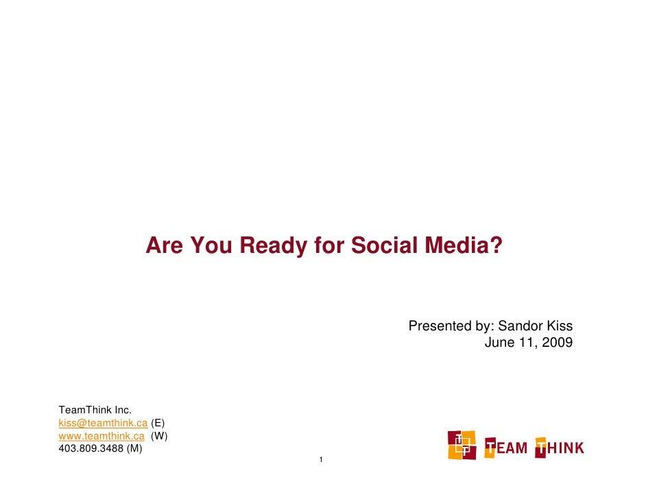 B2B & Social Media: Marketing & Beyond