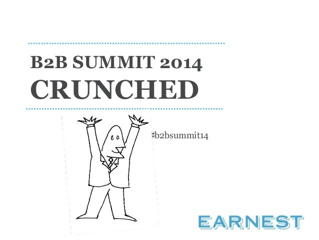 B2B Summit Crunched 2014