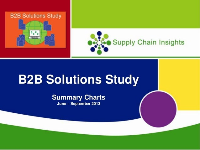 EDI - Business-To-Business Survey Summary Charts - 10 FEB 2014