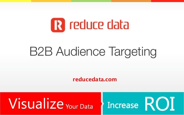 B2B Audience Targeting reducedata.com