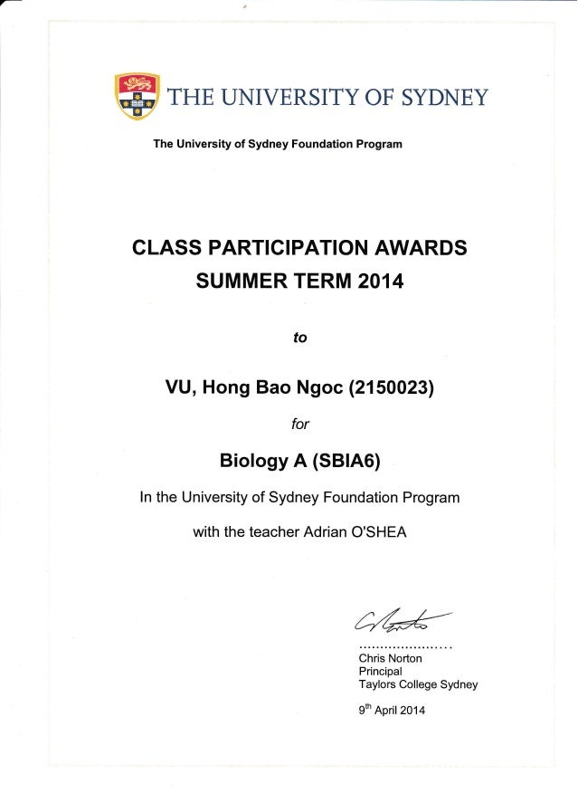 Biochemistry the university of sydney foundation program