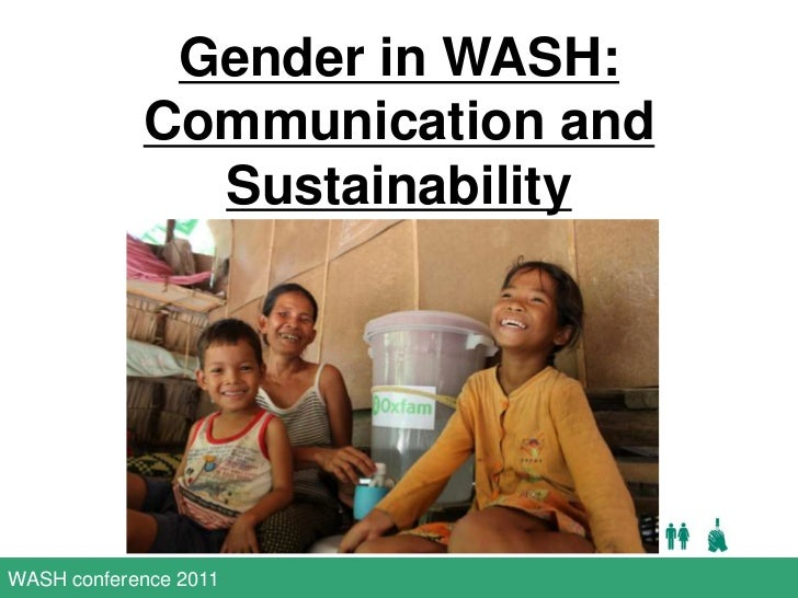 Gender in WASH: Communication and Sustainability