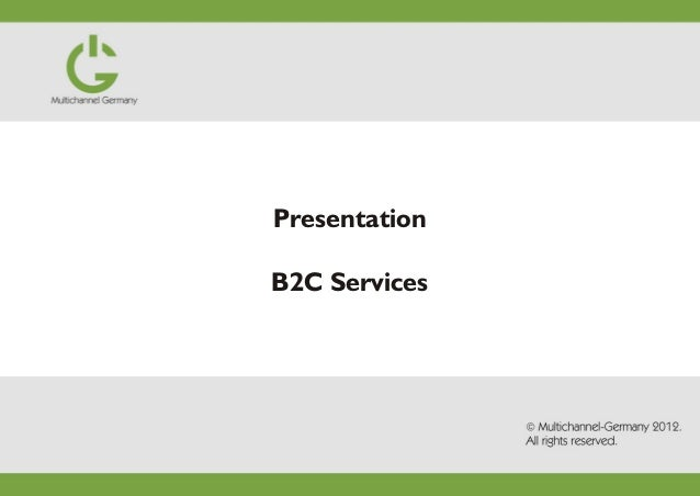 B2C presentation: How to sell to german customers