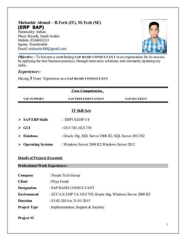 Edi Resume Resume Format Download Pdf Ravi Kumar SAP TM Consultant
