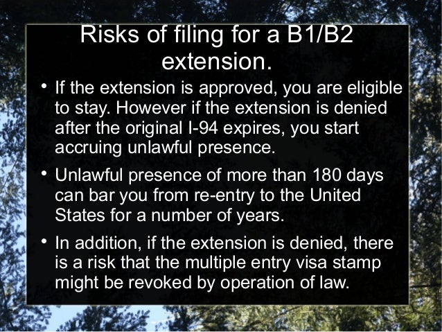 B1 Or B2 Visa Extensions