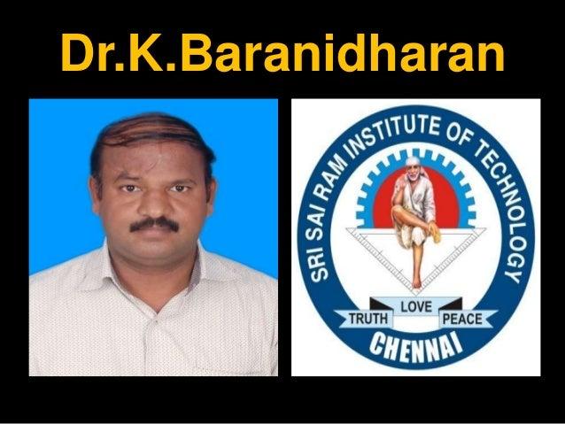 EE&FA - TEAMS AND TEAM WORKS - FINAL YEAR CS/IT - SRI SAIRAM INSTITUTE OF TECHNOLOGY - DR.K.BARANIDHARAN