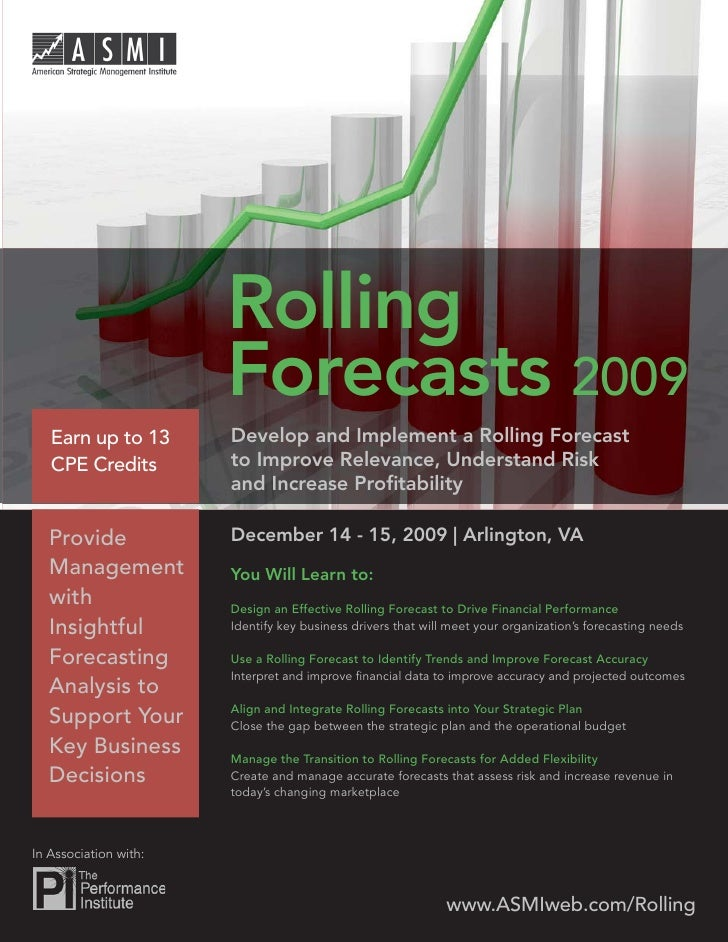 Rolling Forecast 2009                             Rolling                         Forecasts 2009     Earn up to 13       D...