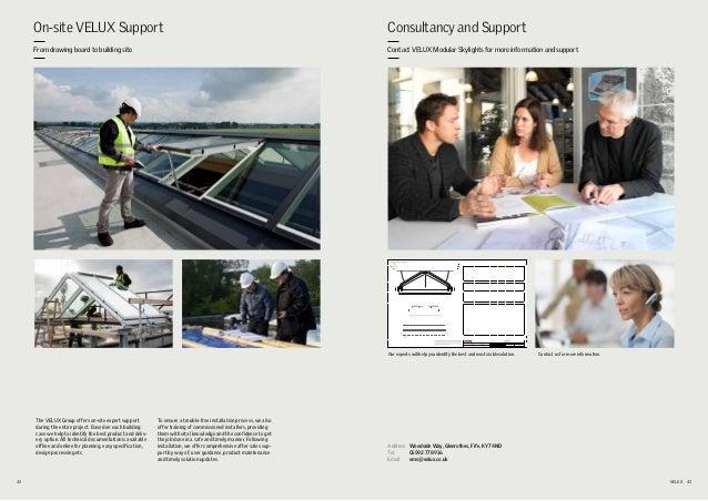 Velux modular skylights summary product brochure for Velux customer support